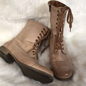 Mia Leather Lace Up Ankle Boots